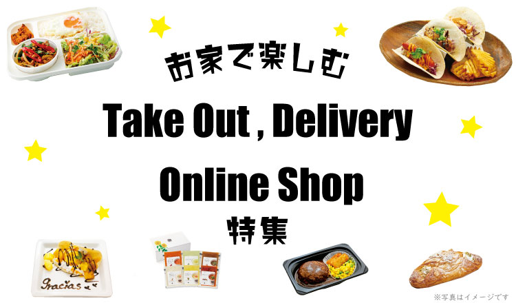 Takeout, delivery of TERMINA, online shop feature